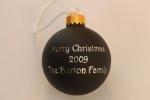2009 Glass ChristmasOrnament